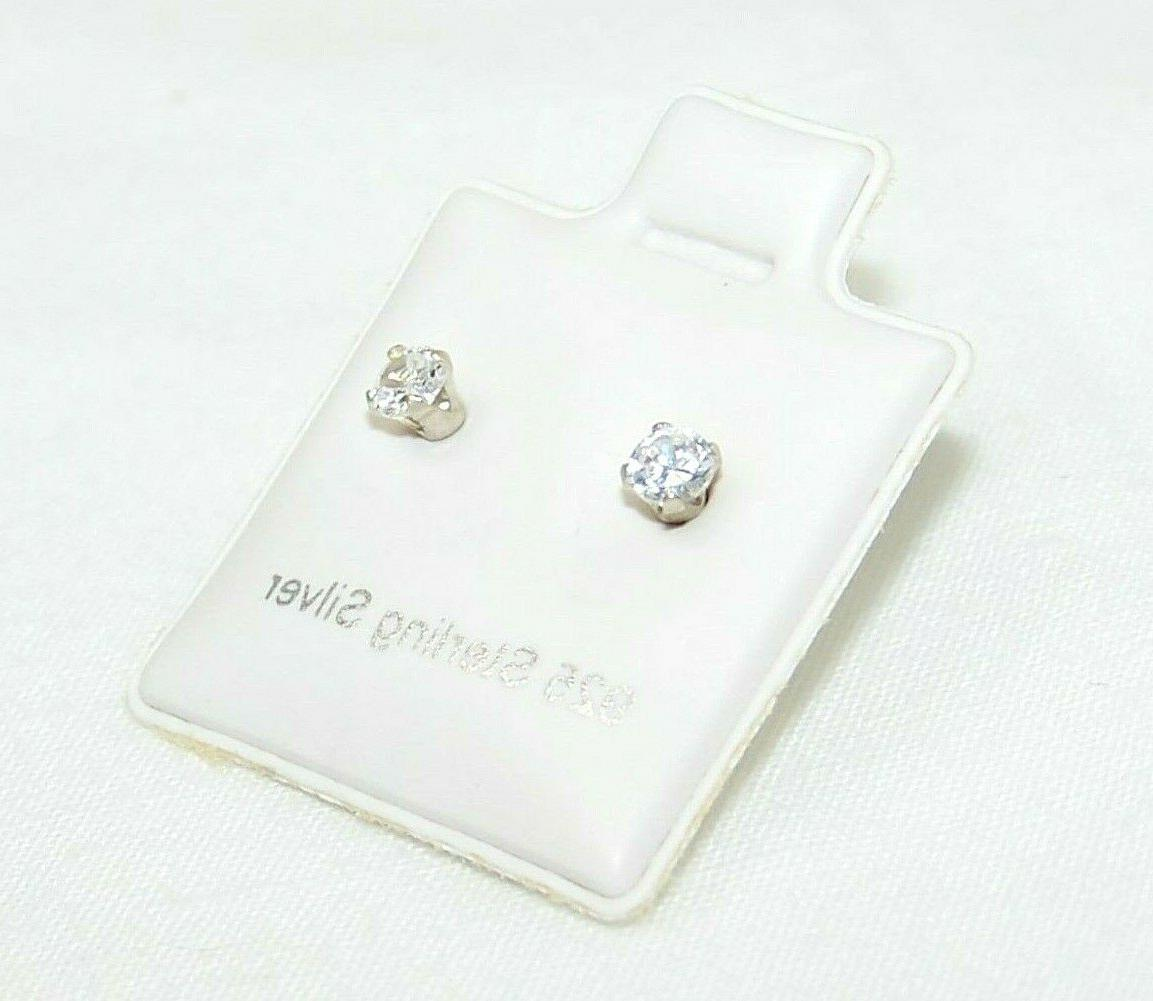 925 sterling silver stud earrings 3mm round