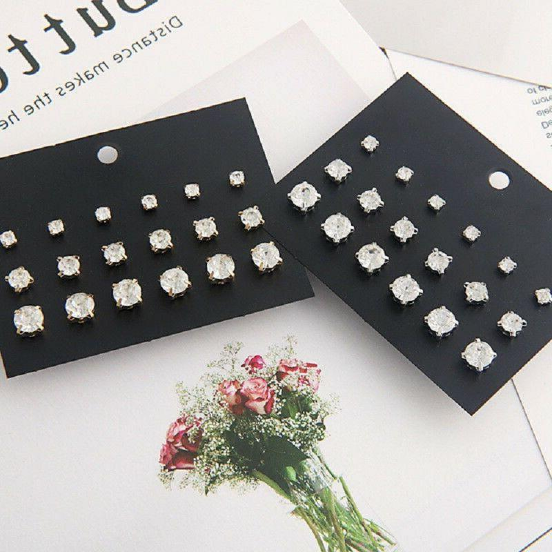 9Pairs Ear Punk Mixed Earring Newly
