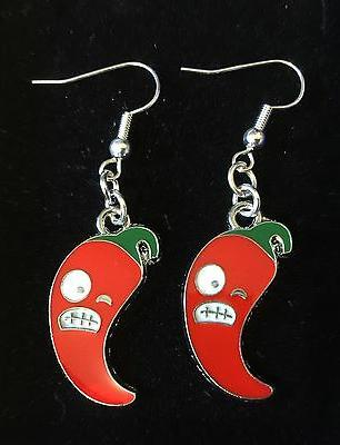 Angry Pepper Earrings, Set Rockabilly