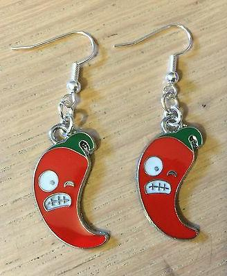 Angry Pepper Earrings, Necklace, Rockabilly