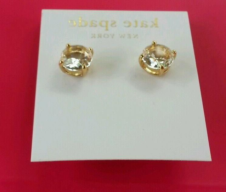 NEW NY Drop Earrings in Gold Tone.