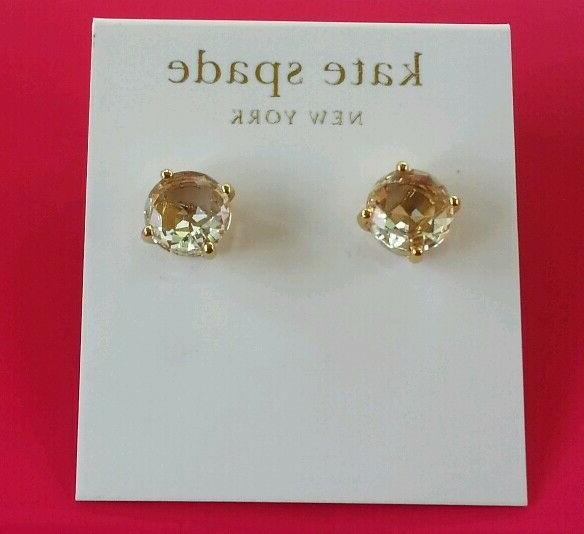 NY Drop Earrings Gold Tone.