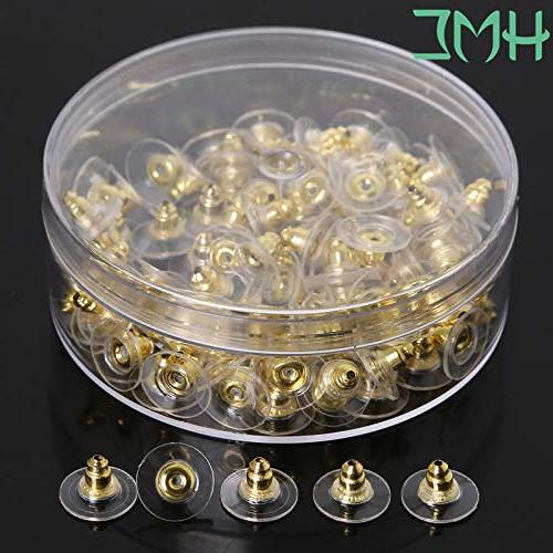Laliva Findings Post Gold Plated Stud Stopper Jewelry Accessories