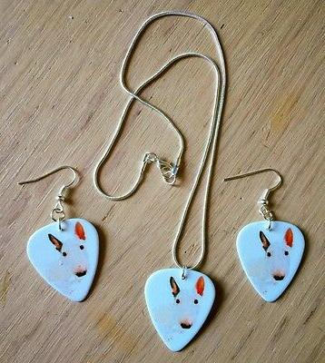 English Pick Plectrum Bullie Necklace, Bracelet