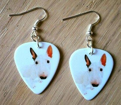 English Bull Terrier Pick Earrings, Necklace,