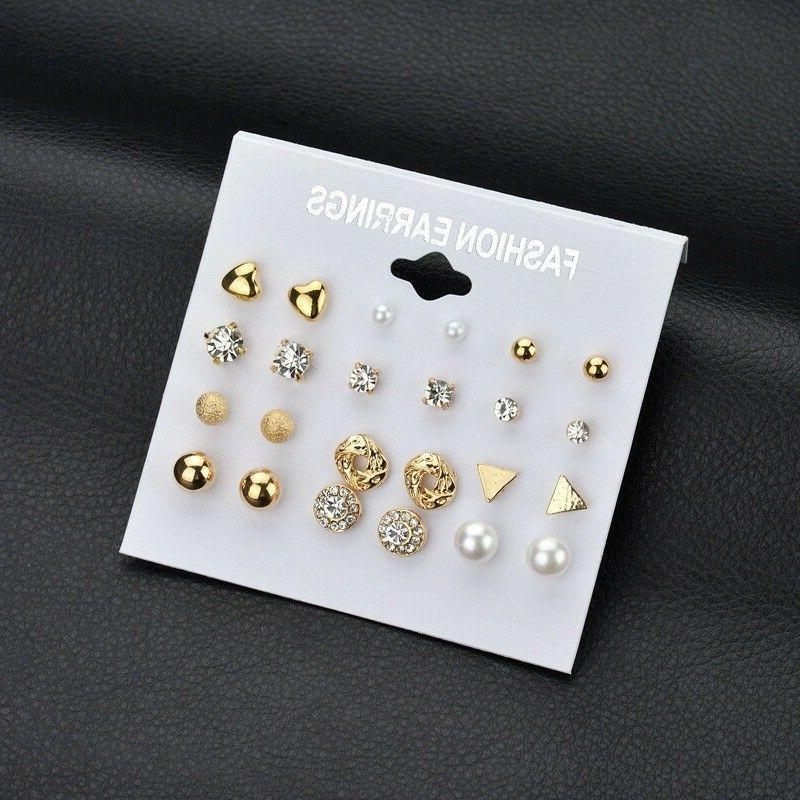 Fashion Women Pearl Multi Earrings Jewelry Earrings