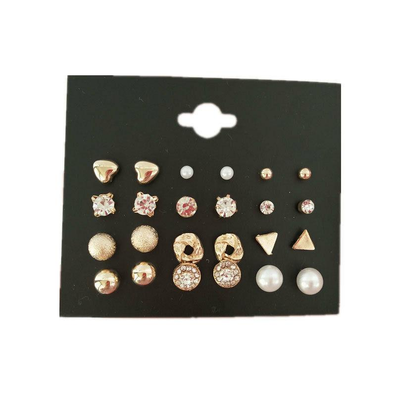 Multi Shape Stud Jewelry Earrings Set