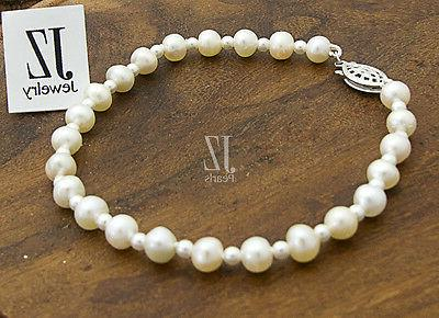 Freshwater Pearl Bracelet with beads in & Clasp