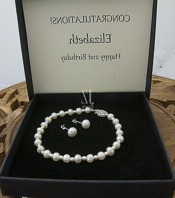 Freshwater Cultured Pearl with beads in Clasp