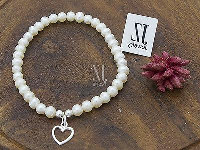 Freshwater Pearl Bracelet with & Stud