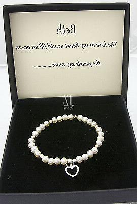 freshwater cultured pearl bracelet with s silver