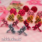 FUNKY SMALL MINI BUG STUD EARRINGS CUTE INSECT SWEET KITSCH