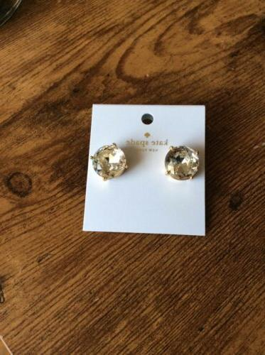 gumdrop oversized clear faceted crystal stud earrings