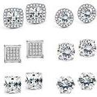 Jstyle Halo Cubic Zirconia Stud Earrings For Women Girls Cle