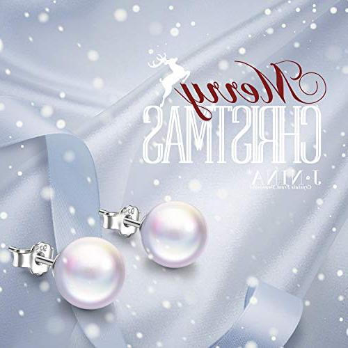 Gifts Christmas Only Swarovski Pearls Earring for Women Girlfriend Sisters Niece Daughter