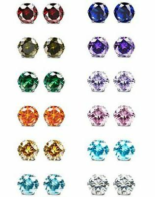 Jstyle ! Women's Stud Earrings eight-color