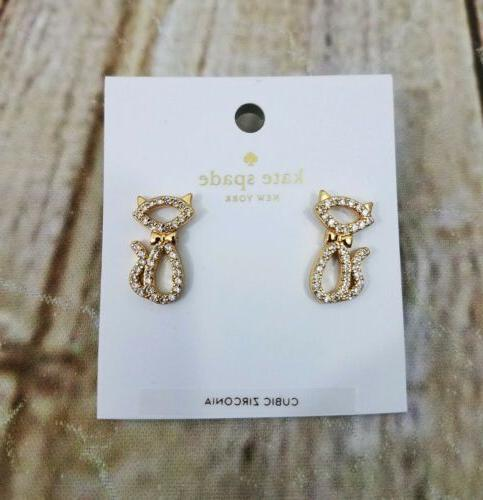 jazz things up pave cat stud earrings