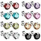 UHIBROS Jewelry Stainless Steel Womens Cubic Zirconia Stud E