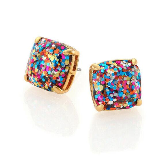 KATE Gold Plated Glitter Stud Earrings