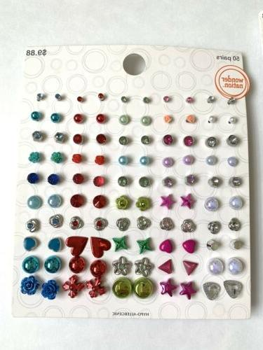 Lot of Pairs of Studs Dangle Earrings Hypo New