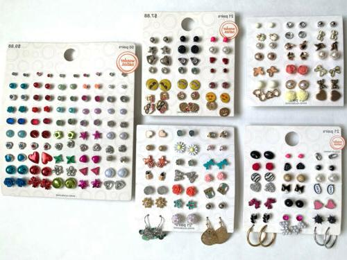 lot of 134 pairs of studs