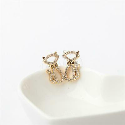 kate spade new york Gold-Tone Crystal and Enamel Black Cat S