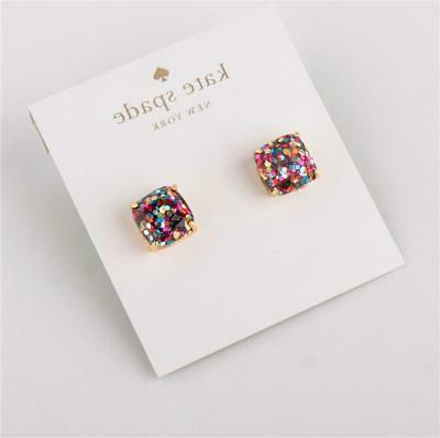kate new Gold-Tone Small Square Stud Earrings