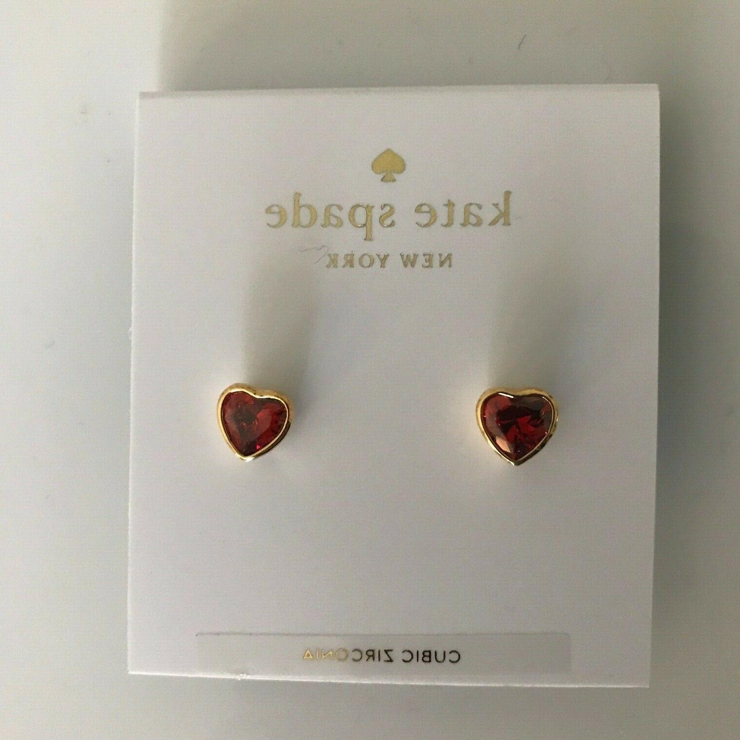 """Kate Spade New red & crystal hearts Rocks"""""""