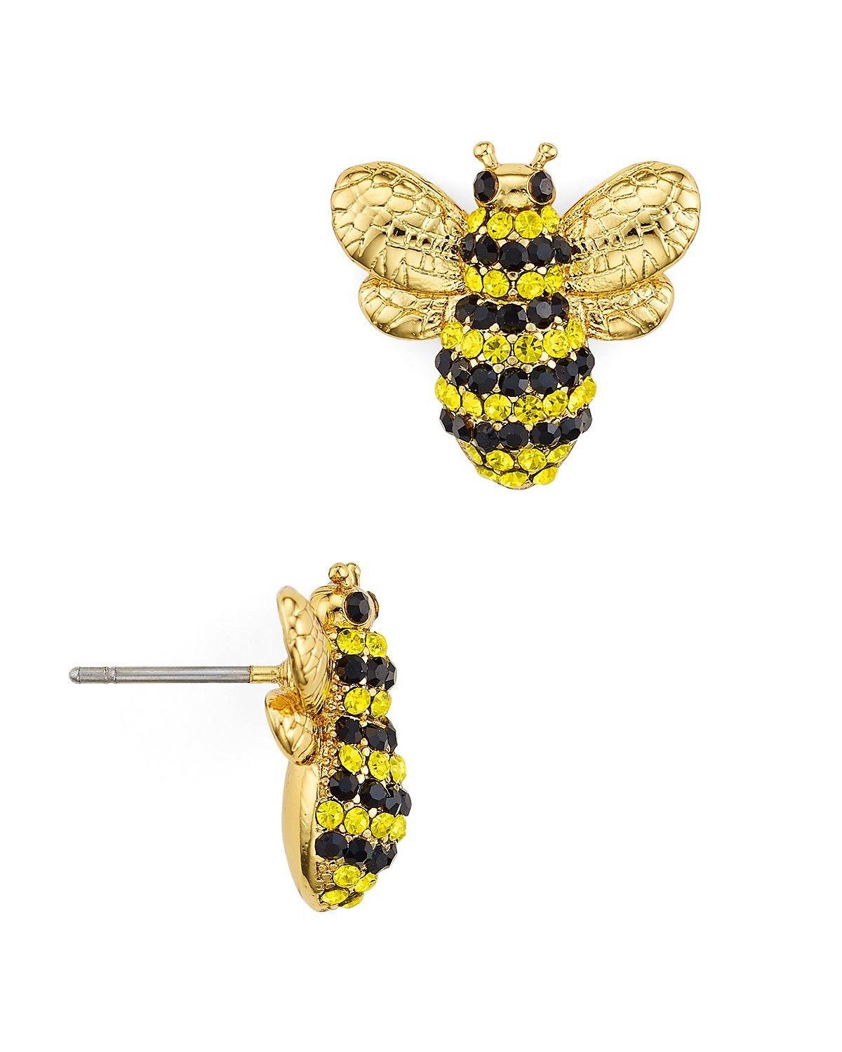 picnic perfect pave bee stud earrings