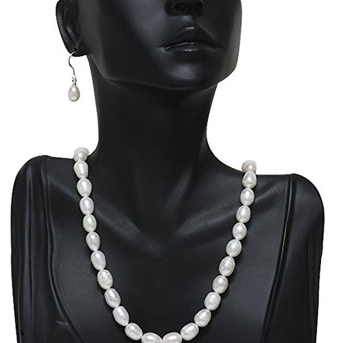 Gem Rhodium Plated 3pc Cultured White Earring Set