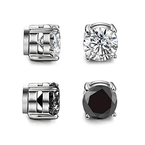 shoopic magnetic stud earrings set punk cubic