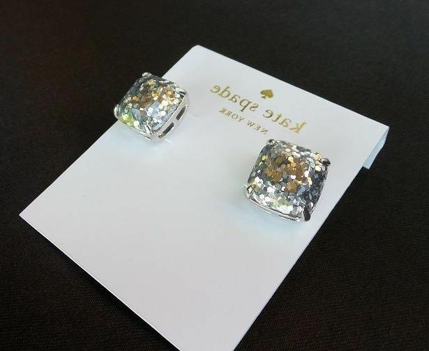 KATE Square Metallic Stone Earrings