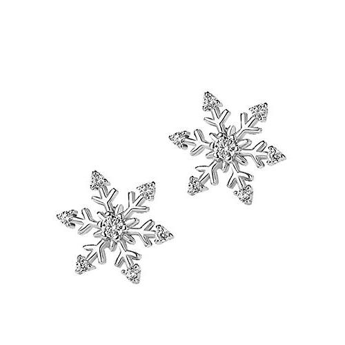 snowflake earrings plated stud