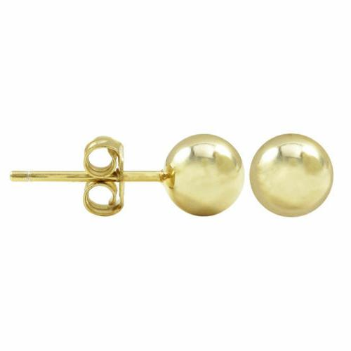 Sterling Silver Round Ball Stud Nickel Real Silver Studs