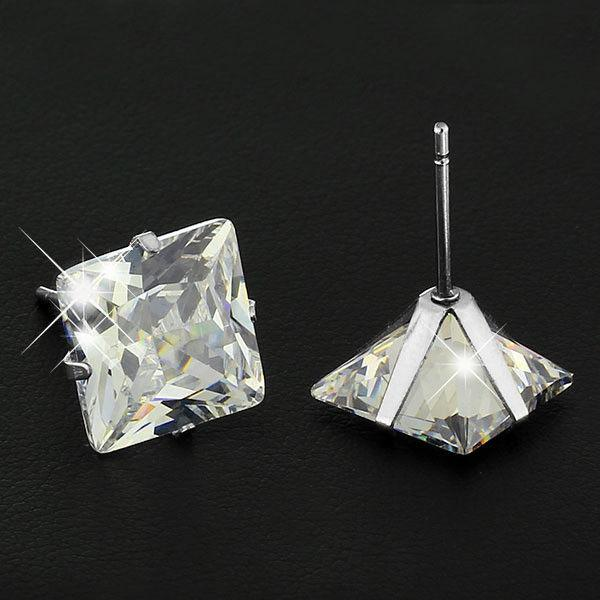 Surgical 316L Stud Earrings Cubic Square