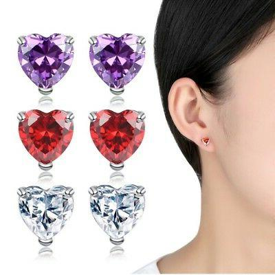 US Girls Love Heart Crystal Necklaces Necklace Earrings