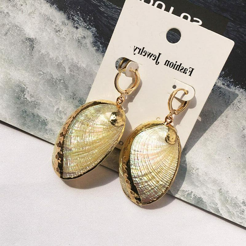 Women Conch Earrings Stud Gold Dector Earring Beach Studs