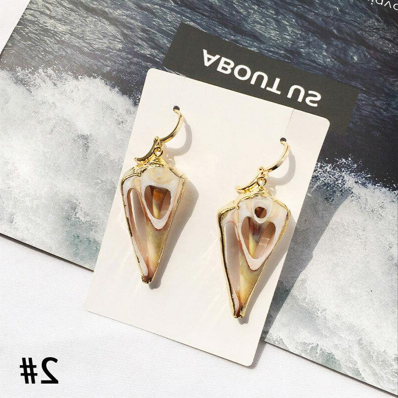 Women Earrings Shell Stud Gold Studs