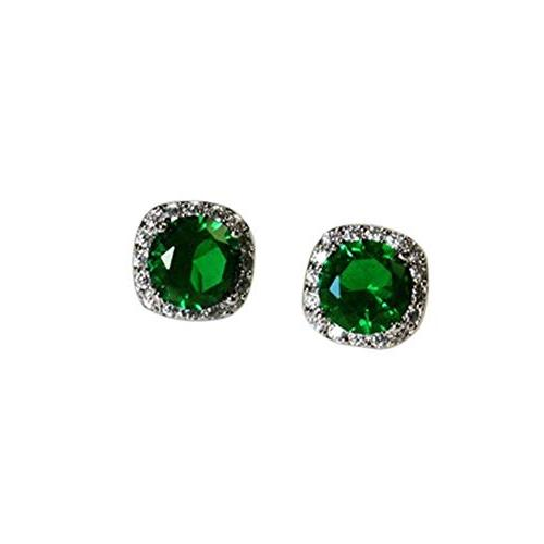 women earrings round cubic zirconia