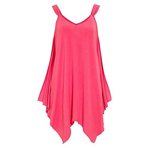women v neck vest solid