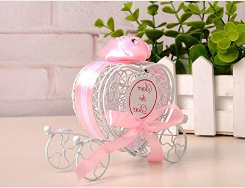 Romantic Carriage Sweets Box Wedding Party Favors