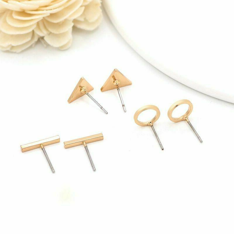 Zealmer Face Gold Statement Stud