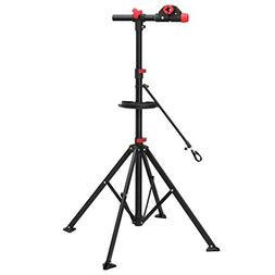 SONGMICS Pro Mechanic Bike Repair Stand with Tool Tray Teles