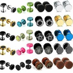 Mens Womens Stainless Steel Round Barbell Dumbbell Screw Bac