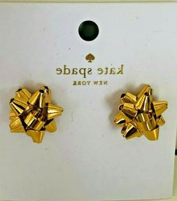 new bourgeois gift bow stud earrings rose