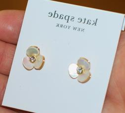 kate spade new york Earrings, Gold-Tone Cream Disco Pansy Fl