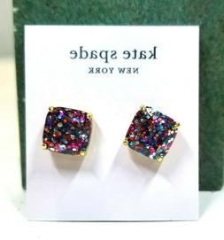 kate spade new york Gold-Tone Glitter Stone Stud Earrings