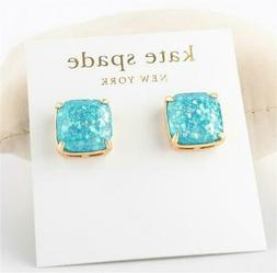 Kate Spade New York Small Square Stud Glitter Earrings Pale