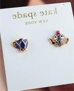 new york tea time stud earrings