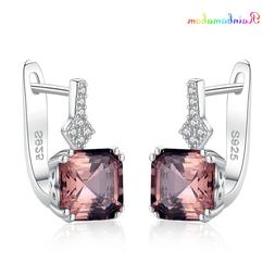 Rainbamabom Real 925 Solid Sterling Silver Created <font><b>